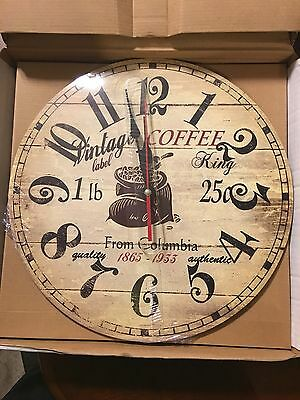 Coffee From Columbia Vintage Wall Clock New In Package