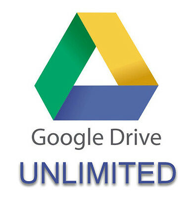 UNLIMITED Storage on Google Drive for your existing current account