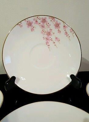 """Teavana Exclusive Collection """"Cherry Blossom"""" Hand Finished Fine Bone China 4pcs"""