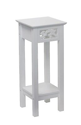 eHemco Indoor Plant Stand Decorative Table in White