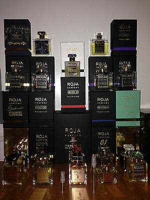 Roja Dove - 1ml, 3ml, 10ml for sale - Select your fragrance and size..