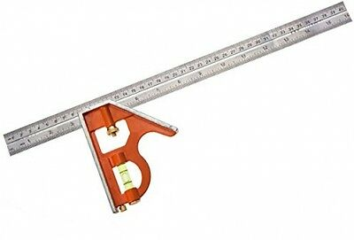 Bahco CS400 400mm Carpenters Stainless Steel Combination Square Metric Imperial