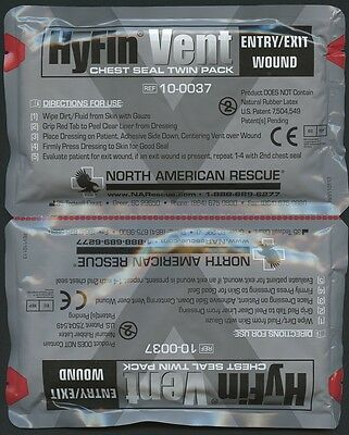 Hyfin Vent Chest Seal Twin Pack Exp 08/2019 NAR PN 10-0037 NEW