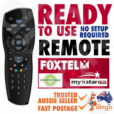 NEW FOXTEL REMOTE Control Replacement For FOXTEL MYSTAR HD & PAYTV s - Black