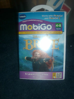 VTECH MOBIGO Learning Software Disney Brave Logic & Spelling +5 Games