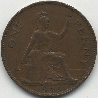 1951 George VI One Penny***Collectors***High Grade***Key date***