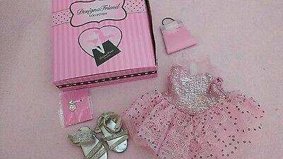Chad Valley Designafriend dress, shoes, & new charm, in box, great condition!