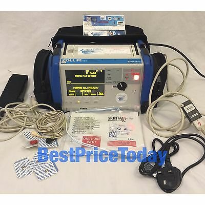 Zoll M Series Biphasic 200 Joules Max Defib Xtreme Pack II case ECG battery AED