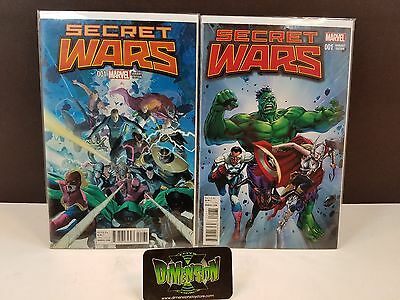 Secret Wars #1 Double Variant Set RIBIC and Jackson (NM)