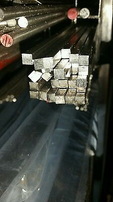 Stainless steel square bar 6mm x 6mm x 1mtr 304 Free Post