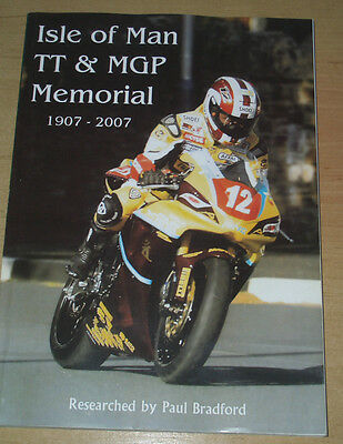 'isle Of Man Tt & Mgp Memorial 1907 - 2007' Rare Book A Report On Every Fatality