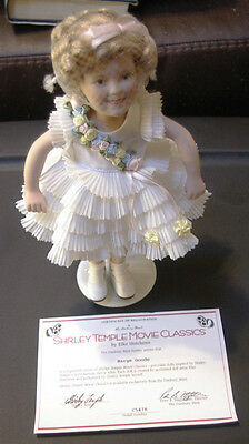 "Shirley Temple Porcelain ""Baby Take a Bow"" doll, Elke Hutchens WITH coa"