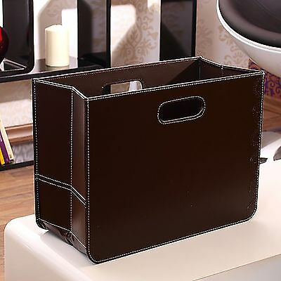 "DESIGN MAGAZINE HOLDER | brown, 12""x16""x7.5"" 