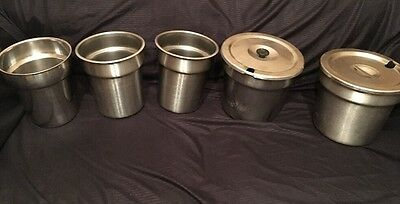 Vollrath - Halco - Bloomfield Round Stainless Steel Steam table Insets 4qt -Qty5