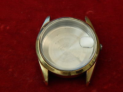 Rolex 14K Gold Filled Oyster Perpetual Date 1550 Case Only Parts