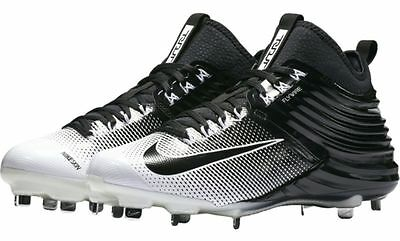 c5e0f2880 Mens NIKE Lunar Trout 2 White Pewter Flywire Baseball Metal Spikes Cleats  807127