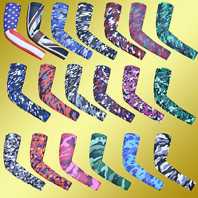 Cooling Arm Sleeves Cover UV Protective Gear Basketball Golf Athletic Sport Camo
