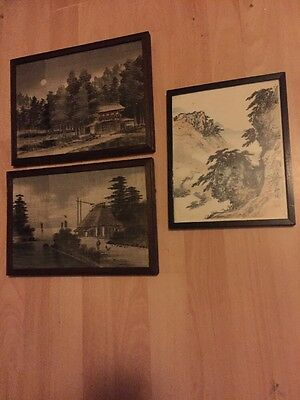 Antique Vintage Wood Block Prints Hand Painted On Cloth Picture ?