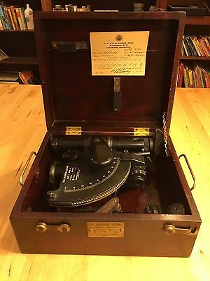 1944 WW2 US Naval Observatory Sextant WWII Navy Ball Recording Mark 1 Model 0