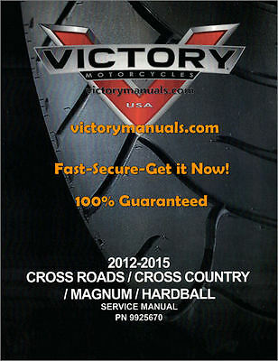 2012-15(16) Victory Cross Country/Roads-Magnum-Hardball-Judge Service Manual CD