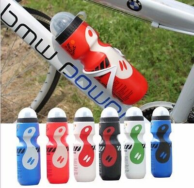 Outdoor Mountain Sport Bike Cyclin Water Bottle+Holder Cage Mount 8 color 750ml