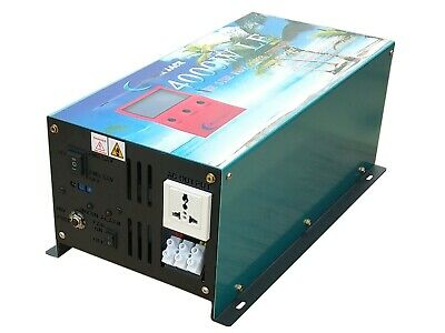 5000W power inverter, LF pure sine wave, DC 24V / AC 240V, charger/ LCD/ UPS