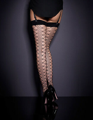 AGENT PROVOCATEUR Crochet Stockings Black Size 3 Pantyhose Hosiery