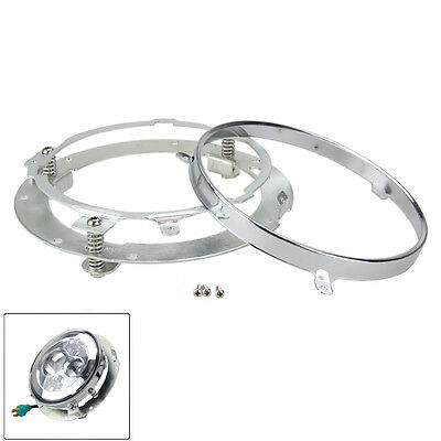 """7"""" Round Daymaker HID LED Headlight Mounting Ring Bracket For Harley Touring"""
