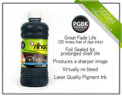 500ml Rihac Black Pigment Ink for Canon PGI-670 cartridge TS9060 TS8060 MG7760