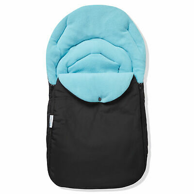 Car Seat  Footmuff / Cosy Toes Compatible with Silver Cross Light Blue