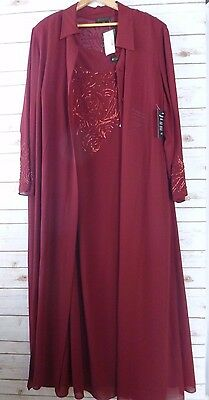 Studio 1 Formal Dress 2 Piece Mother of the Bride Size 24W Bead Detail NWT