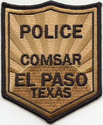 EL PASO TEXAS TX Combined Search And Rescue COMSAR POLICE PATCH