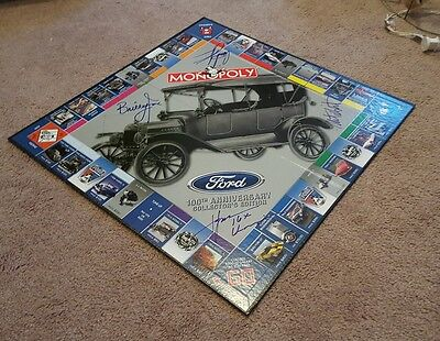 John Force Racing Signed Ford Monopoly Board Courtney Force One Of A Kind Rare