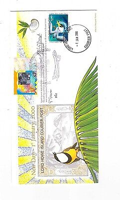 Lord Howe Island 2000 Courier Post Cover SIGNED