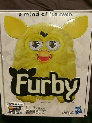 2012 Yellow Furby Brand New in Box - A mind of its Own