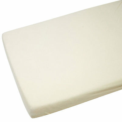 4x Toddler / Junior Bed Jersey Fitted Sheet 140cm x 70cm Cream