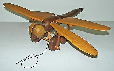 【RARE】LARGE 2' Vintage Dragonfly Pull Toy Hand Crafted-70s Bill Huntley Design!