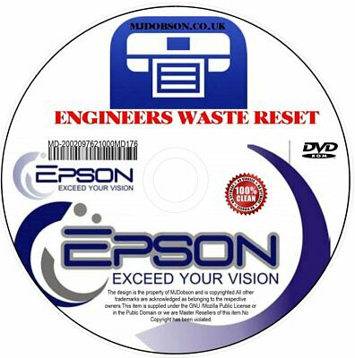 (Md182) Epson  Xp-850 Waste Ink Pads Reset  Service Error Fault Disc