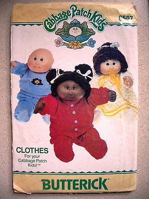 Butterick 6507 Cabbage Patch Kids Clothes Casual Wear Patterns Complete