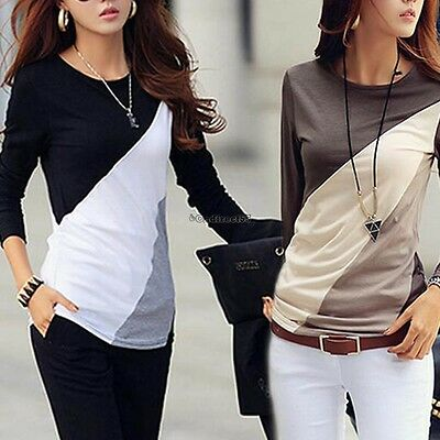 New Ladies Women's Long Sleeve Loose Slim Casual Blouse Top Shirt Size C5