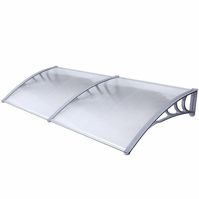 2MX1M Window Door Awning Outdoor Polycarbonate DIY Front Canopy Patio UV Cover