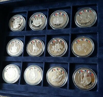 12 x Falkland Islands Golden Jubilee 50p Fifty Pence 2002 Westminster Coloured