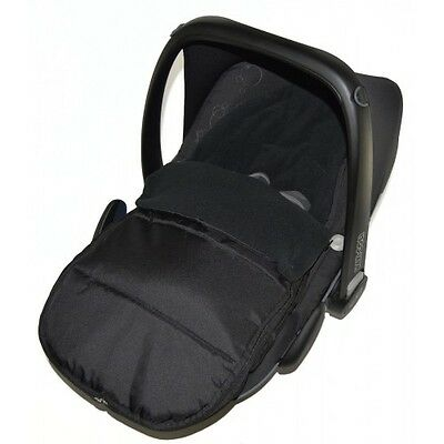Car Seat Footmuff / Cosy Toes Compatible With Mountain Buggy Black Jack
