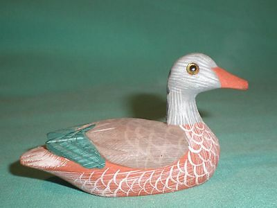 wooden duck, hand-painted/figurine/miniature/Home decor