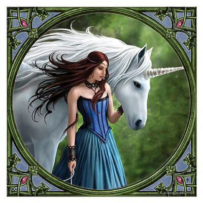 Anne Stokes Enchanted Pool Small Tile Collectible Art Tile Decoration Gift