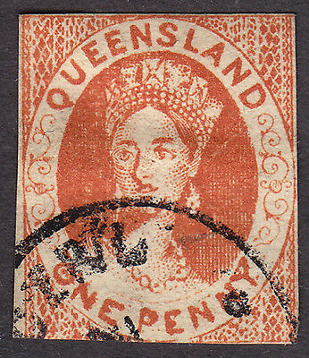 Queensland SG1 1d used - Forgery