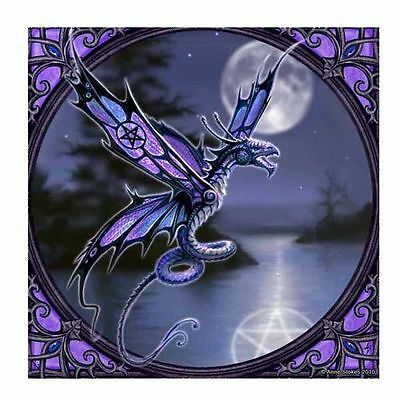 Anne Stokes Dragonfly Small Tile Collectible Art Tile Decoration Gift