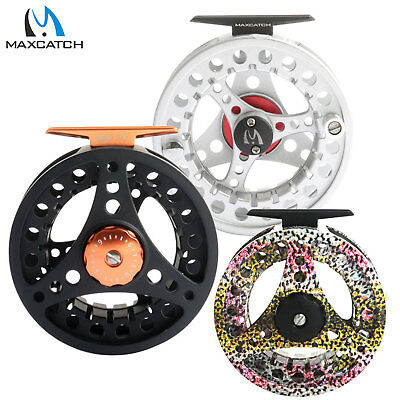 Maxcatch Fly Reel 1/2 2/3 3/4 5/6 7/8WT Large Arbor Aluminum Fly Fishing Reel