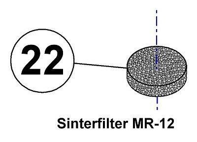 Mares ® Spare Parts - Sinterfilter 1.Stufe Mares MR12 Pos.-Code. 22-1185014