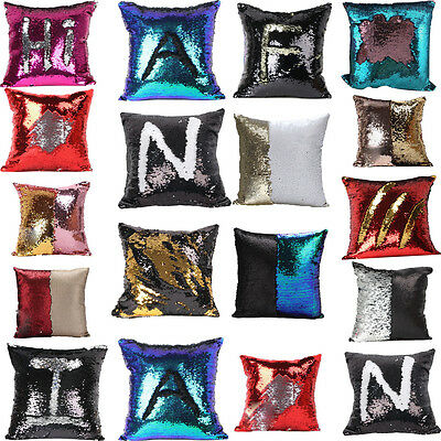 2017 Nice Home Reversible Sequin Mermaid Glitter Sofa Cushion Cover Pillow Case